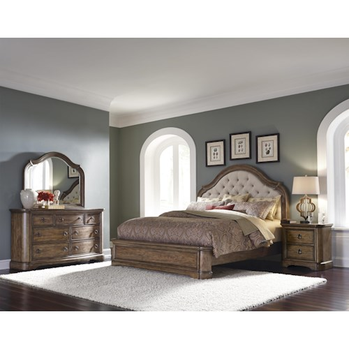 Pulaski Furniture Aurora Queen Bedroom Group