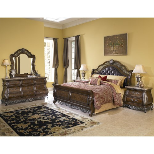 Pulaski Furniture Birkhaven King Bedroom Group