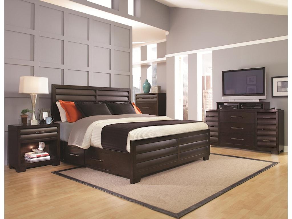 Pulaski Furniture Tangerine King Bedroom Group