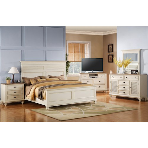 Riverside Furniture Coventry Two Tone Full Queen Bedroom Group