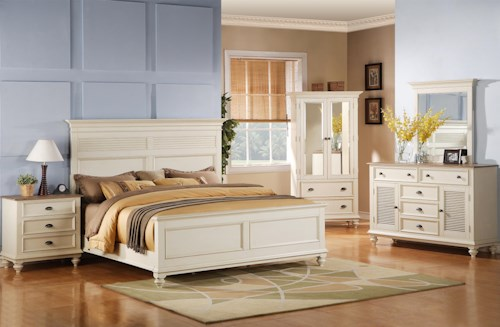 Riverside Furniture Coventry Two Tone King Bedroom Group