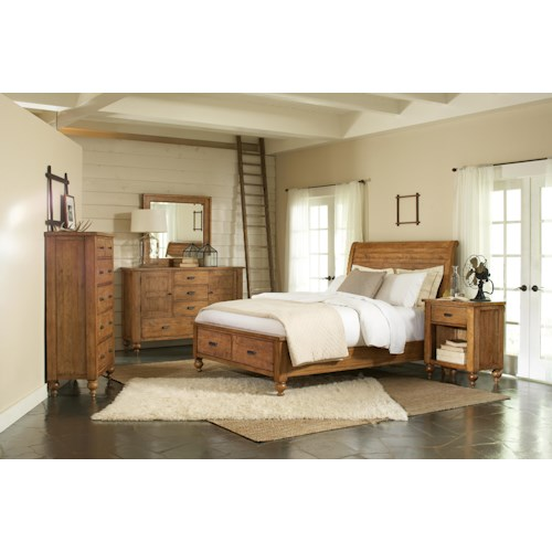 Riverside Furniture Summer Hill King Bedroom Group