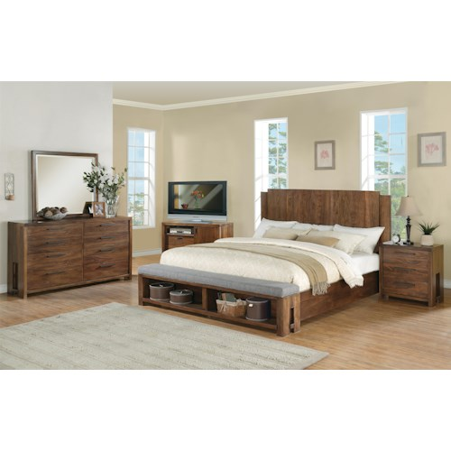 Riverside Furniture Terra Vista Queen Bedroom Group