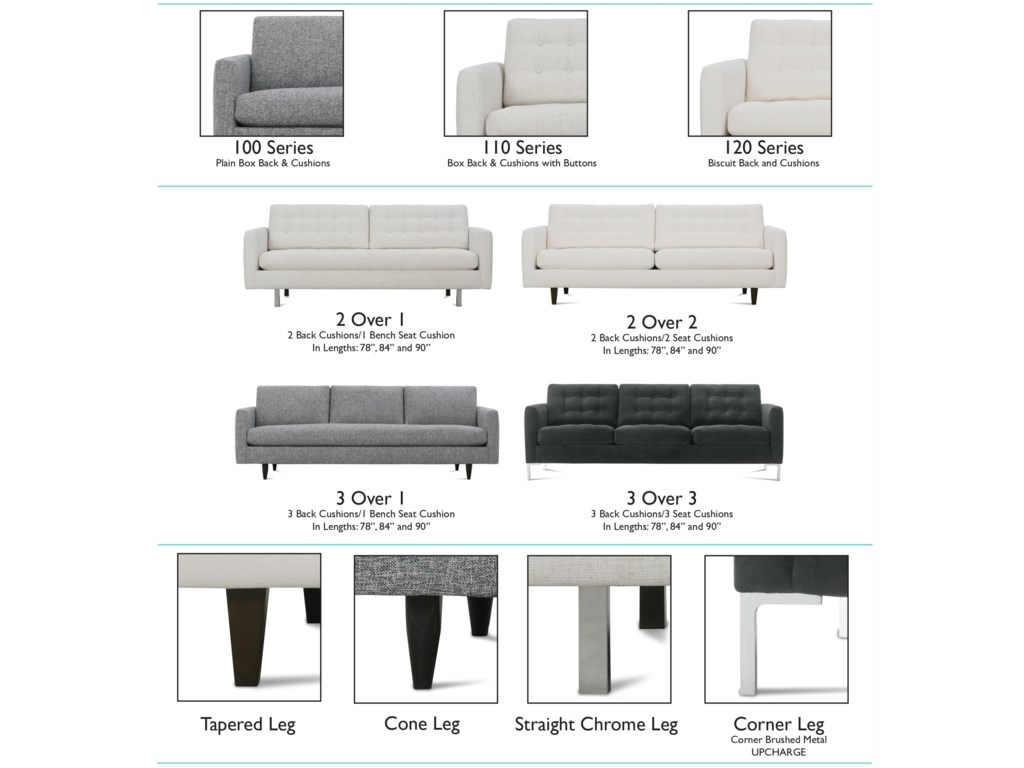 Rowe Modern MixStationary Living Room Group