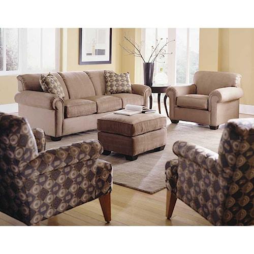 Rowe Woodrow Stationary Living Room Group