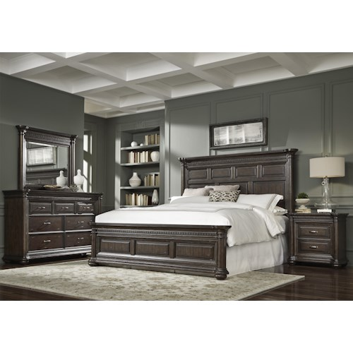 Samuel Lawrence Grand Manor King Bedroom Group