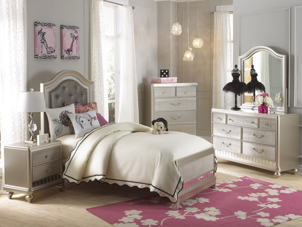 samuel lawrence lil diva twin bedroom group - adcock furniture