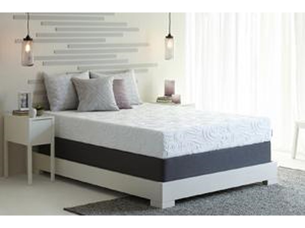 Sealy Optimum 2.0 RadianceQueen Cushion Firm Adj Mattress Set