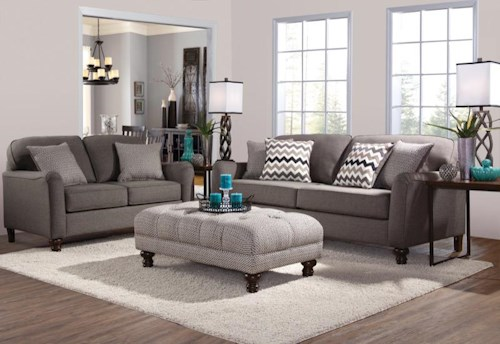 Serta Upholstery by Hughes Furniture 4050 Stationary Living Room ...