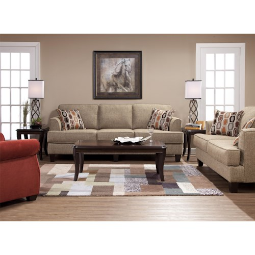 Serta Upholstery by Hughes Furniture 5600 Stationary Living Room Group