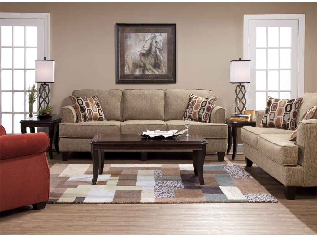 Serta Upholstery by Hughes Furniture 5600Stationary Living Room Group