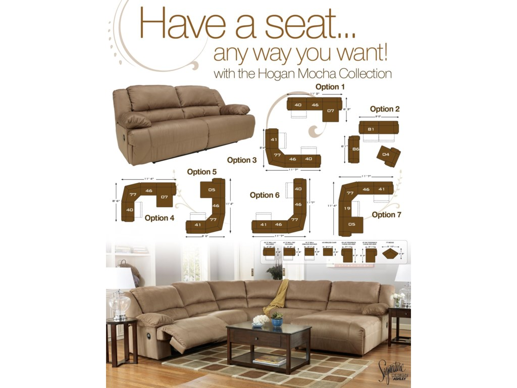 Signature Design by Ashley Hogan - MochaReclining Loveseat