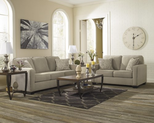 Signature Design by Ashley Alenya - Quartz Stationary Living Room Group