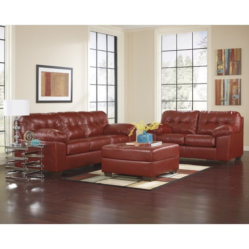 Signature Design by Ashley Alliston DuraBlend® - Salsa Stationary Living Room Group