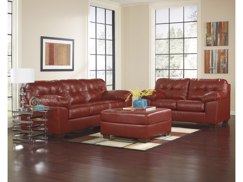 Ashley (Signature Design) Alliston DuraBlend® - SalsaStationary Living Room Group