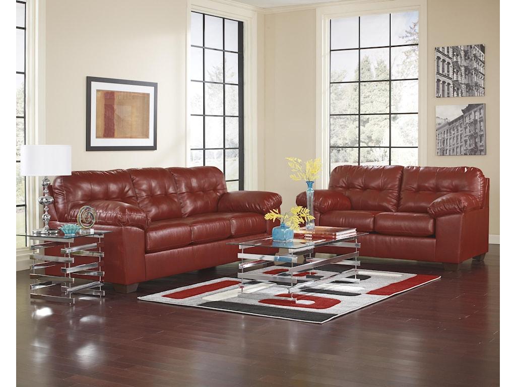 Ashley (Signature Design) Alliston DuraBlend® - SalsaStationary Living Room Group