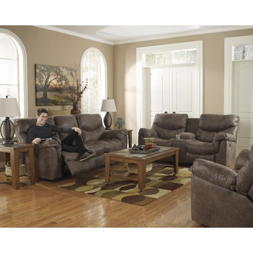 Signature Design by Ashley Alzena - Gunsmoke Reclining Living Room Group