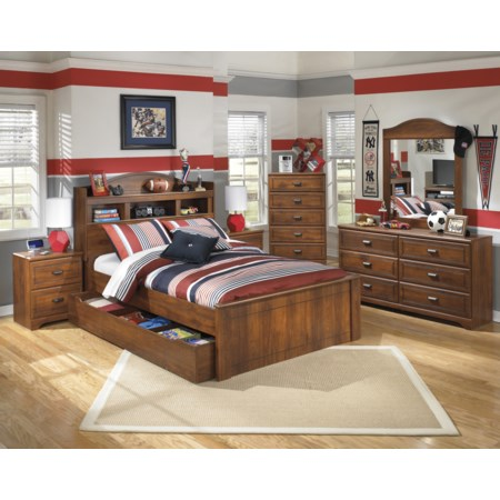 Ashley Signature Design Barchan Full Bookcase Bed With Trundle Under Bed Storage Unit Dunk Bright Furniture Bookcase Beds