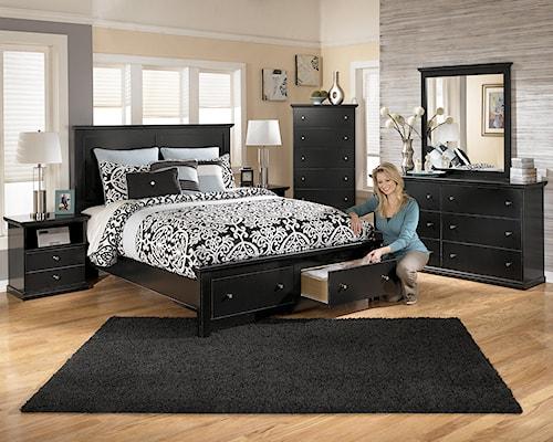 Signature Design By Ashley Maribel Queen Bedroom Group Furniture Mart Colorado Bedroom