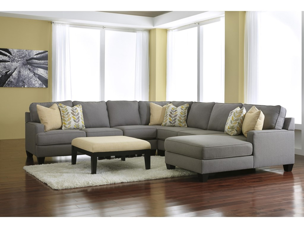 Ashley (Signature Design) Chamberly - AlloyStationary Living Room Group