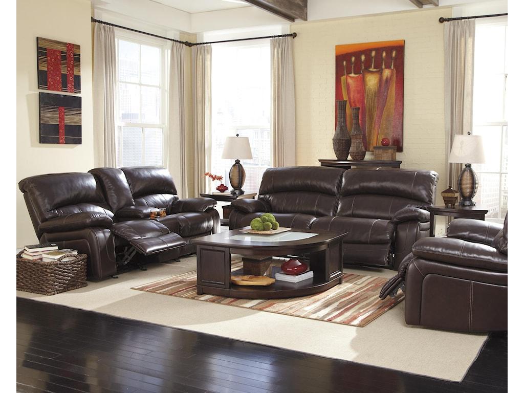 Signature Design by Ashley Damacio - Dark BrownReclining Living Room Group