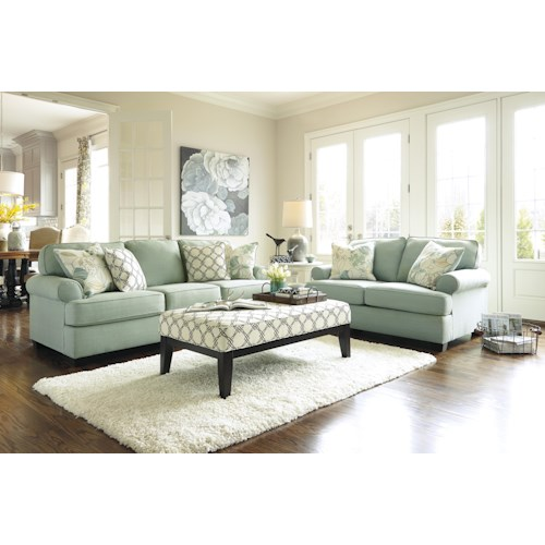 Signature Design by Ashley Daystar - Seafoam Stationary Living Room Group