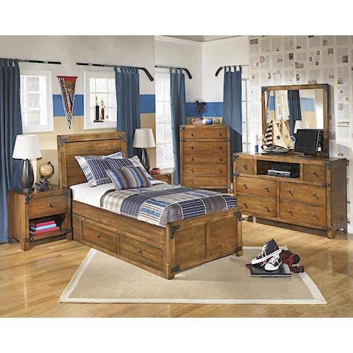 Signature Design By Ashley Delburne Twin Bedroom Group Furniture Mart Colorado Bedroom Group