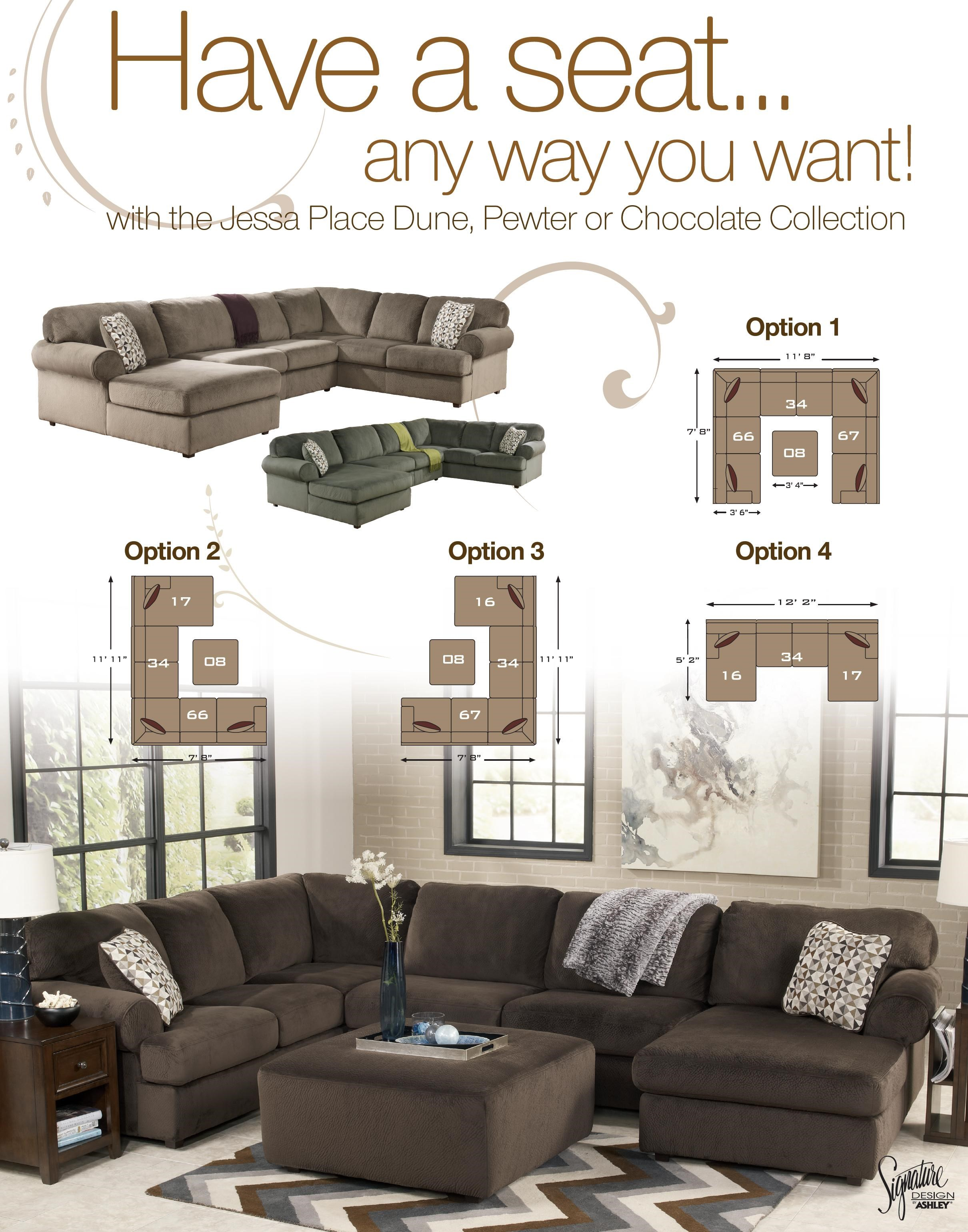 Signature Design by Ashley Jessa Place - Dune LAF Sofa  sc 1 st  Furniture Fair : jessa sectional - Sectionals, Sofas & Couches