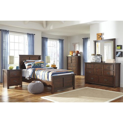 Signature Design by Ashley Ladiville Twin Bedroom Group