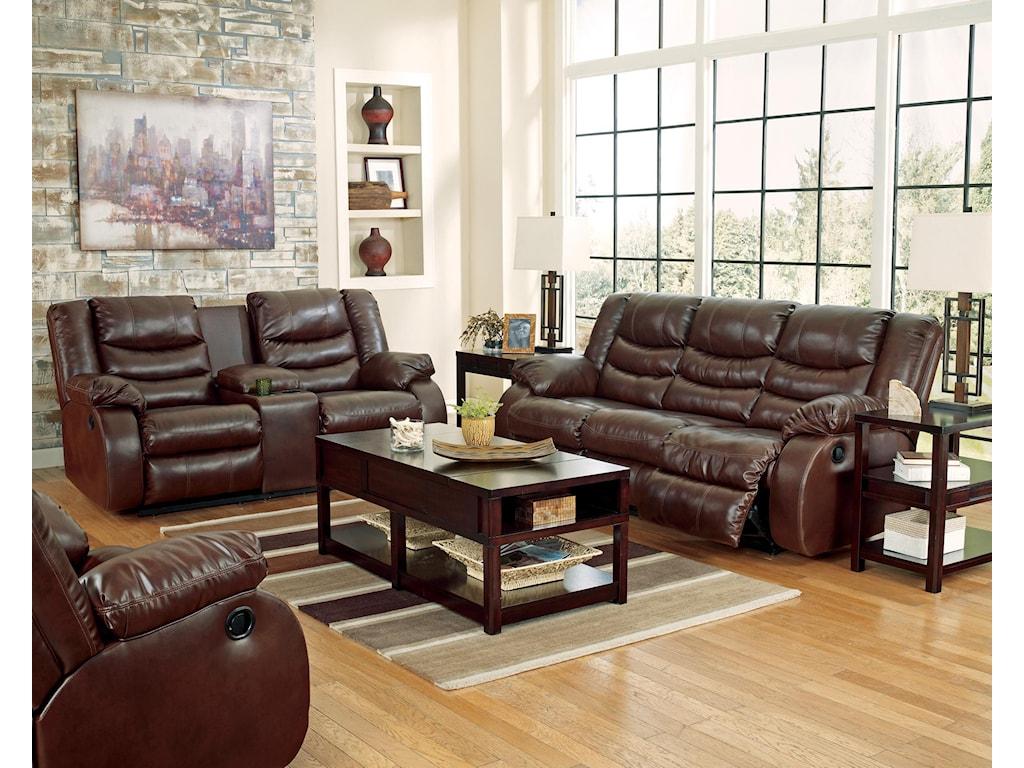 Benchcraft Linebacker DuraBlend - EspressoReclining Living Room Group