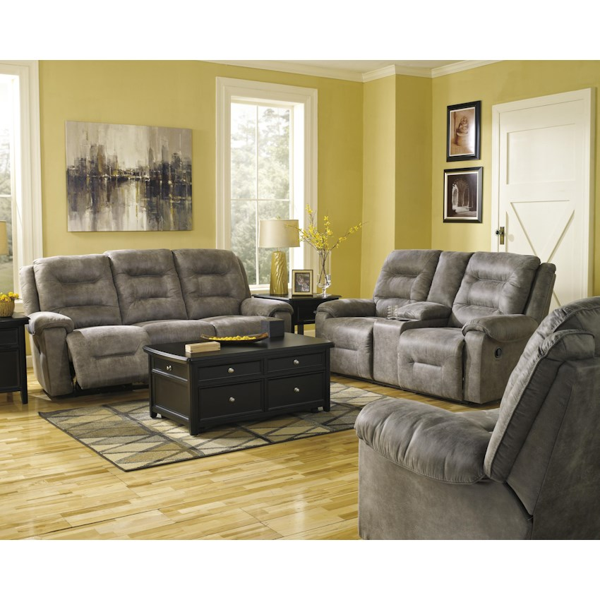 Rotation smoke 97501 by signature design by ashley - Oberson gunsmoke reclining living room set ...
