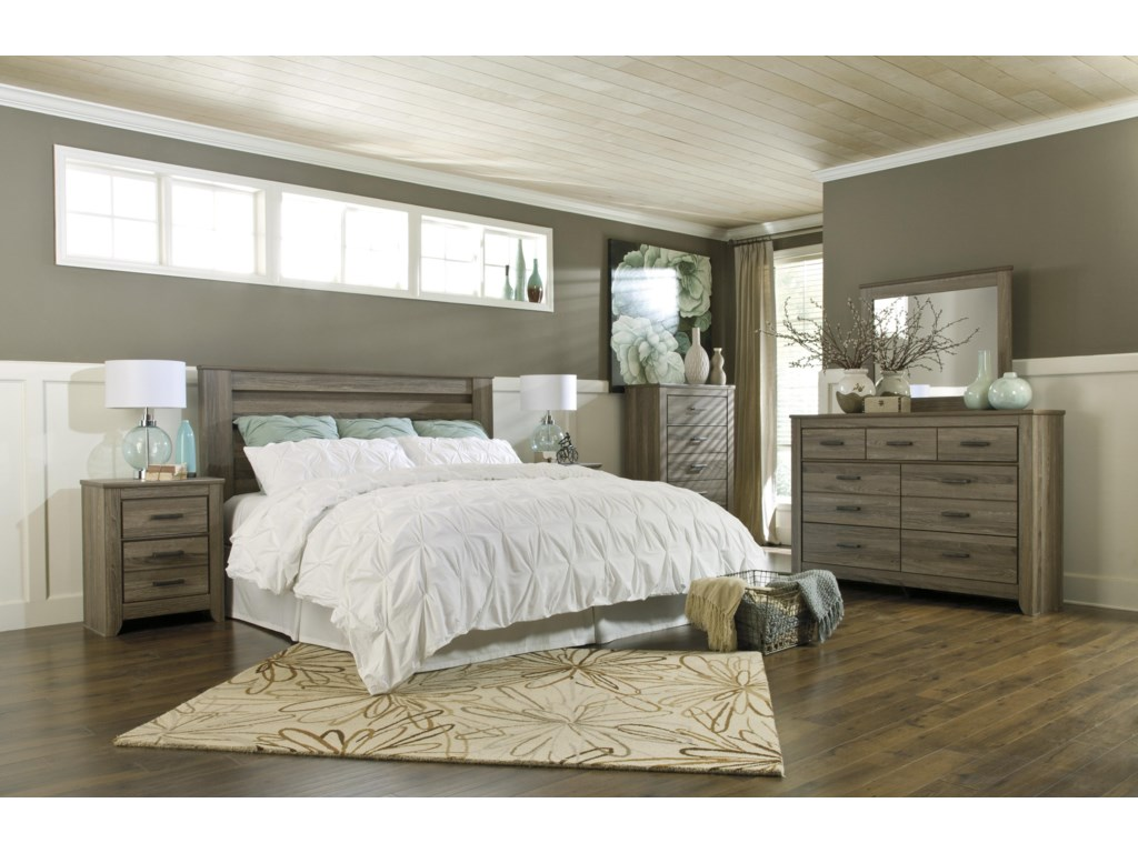 Signature Design by Ashley ZelenKing/California King Bedroom Group