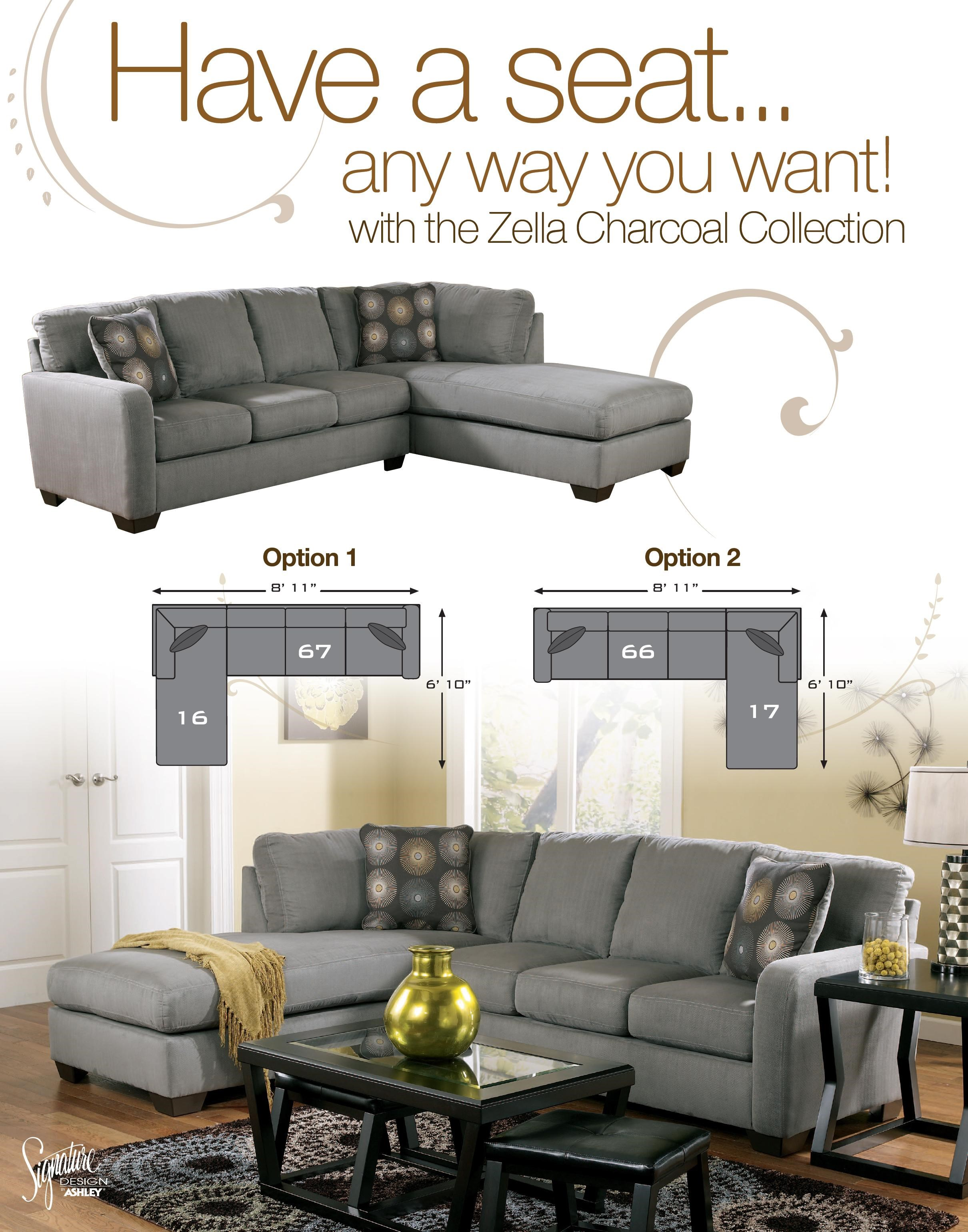Charcoal Sectional Sofa Donna Charcoal Ashley Furniture Sectional