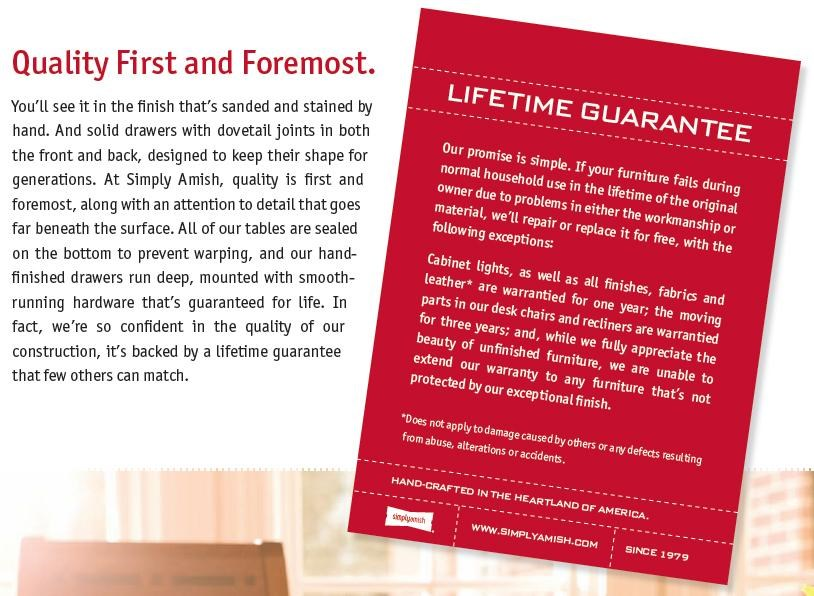 Commitment to Quality Products with Lifetime Guarantee