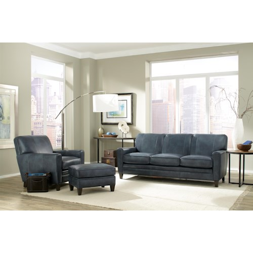 Smith Brothers 225 Leather Stationary Living Room Group