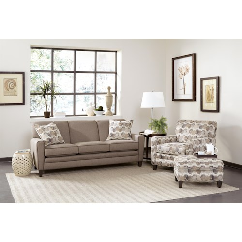 Smith Brothers 225 Fabric Stationary Living Room Group