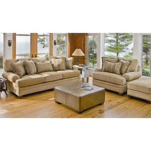 Smith Brothers 375 Stationary Living Room Group