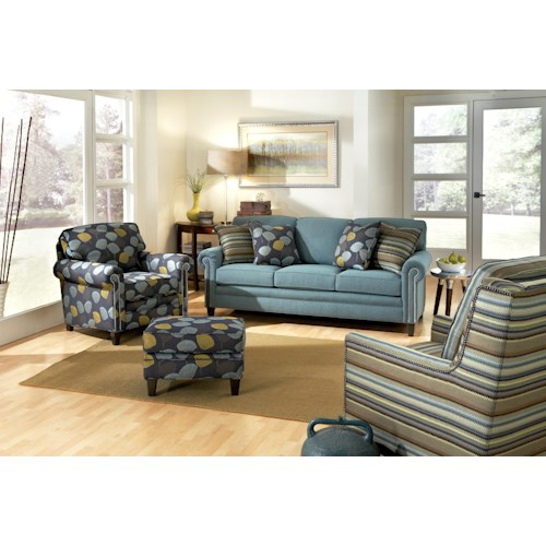 Smith Brothers 395 Style Group Stationary Living Room Group