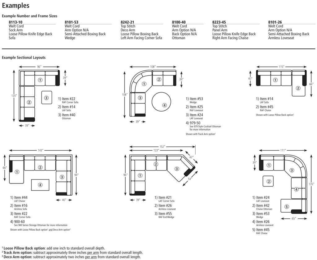 Smith Brothers Build Your Own 8000 Series Large Corner Sectional