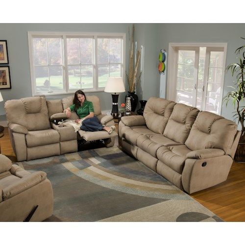 Southern Motion Avalon Reclining Living Room Group Bullard