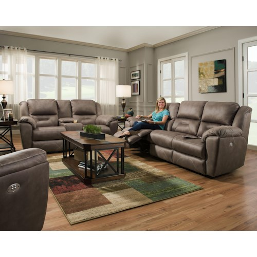 Southern Living Furniture Collection: Southern Motion Pandora Reclining Living Room Group