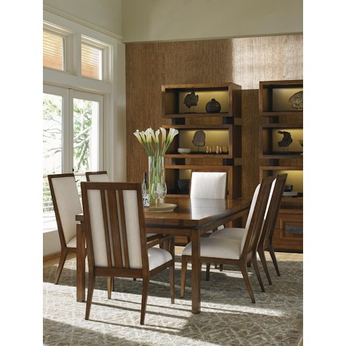 Tommy Bahama Home Island Fusion Formal Dining Room Group