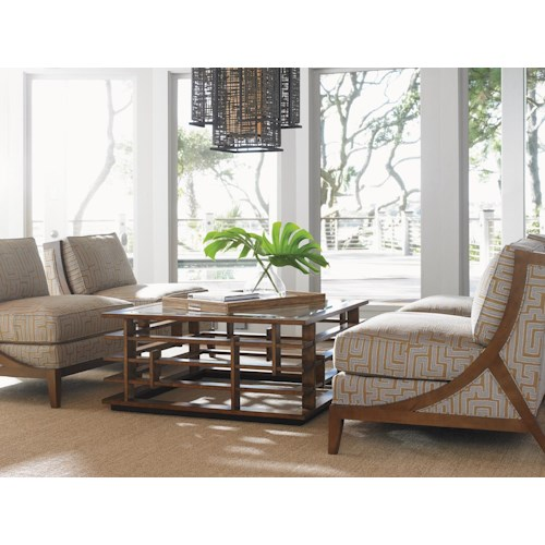 Tommy Bahama Home Island Fusion Stationary Living Room Group