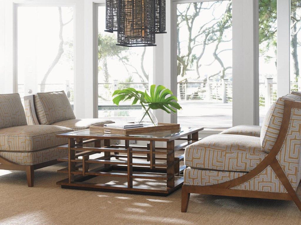 Tommy Bahama Home Island Fusion Stationary Living Room Group ...