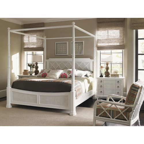 Tommy Bahama Home Ivory Key Queen Bedroom Group