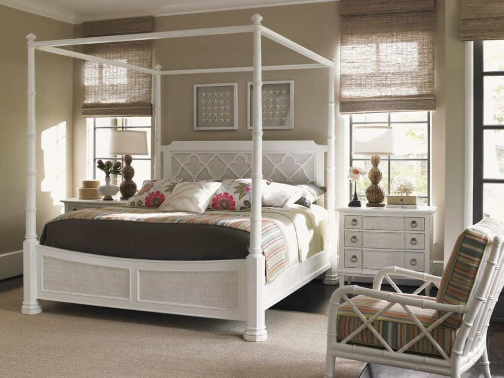 Tommy Bahama Home Ivory KeyQueen Bedroom Group
