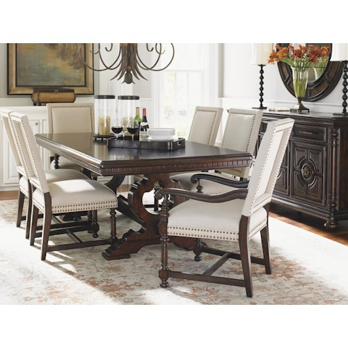Tommy Bahama Home Kilimanjaro Formal Dining Room Group