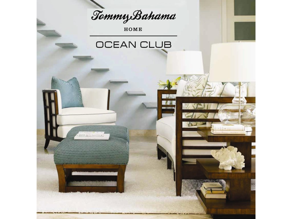 Tommy Bahama Home Ocean ClubSouth Sea Round Glass Table w/ 54