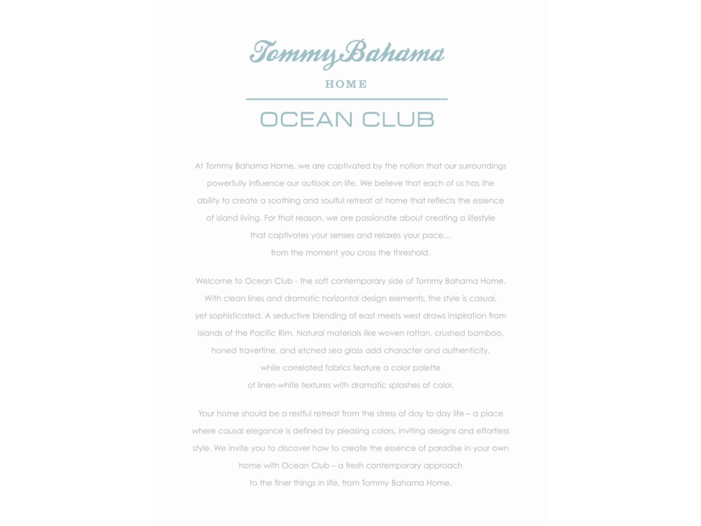 Tommy Bahama Home Ocean ClubCalifornia King Paradise Point Bed