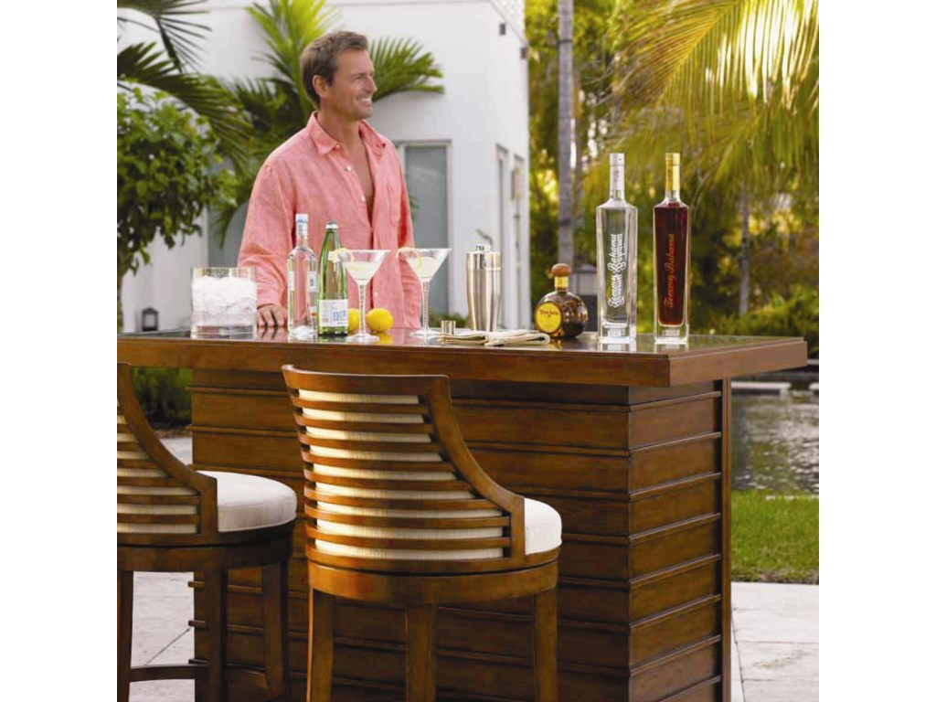 Tommy Bahama Home Ocean Club<b>Quick Ship</b> Cabana Counter Stool